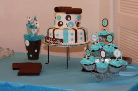 ingrid rhodes styled events brown and aqua baby shower
