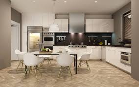 kitchen 3d graphics interior table chairs design