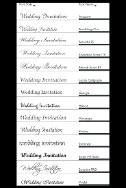Wedding Invitation Cards Font Styles Invitation Fonts