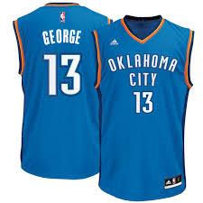 s oklahoma city thunder paul george adidas blue replica road