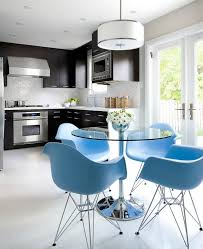 White Plastic Kitchen Chairs - blue plastic dining chairs design ideas