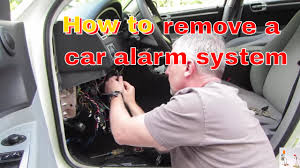 tips for removing a car alarm system youtube