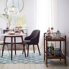 mid century bistro table reeve mid century bistro table from west elm