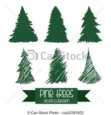 vector clipart of pine tree design pine tree graphic design