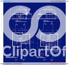 residential blueprints clipart illustration of a background of residential home