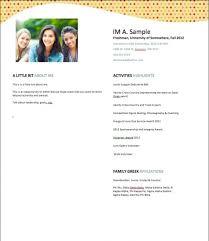Recruitment Resume Sorority Resume Resume Ideas