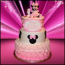 minnie mouse birthday cake 3 tier pink disney minnie mouse 1st birthday cake with 3d