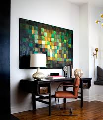 gray painted floors home office eclectic with abigail ahern green