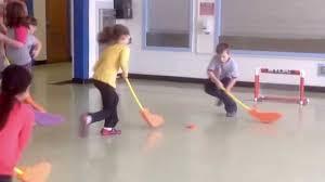 floor hockey unit plan elementary floor hockey practice stick handling passing then