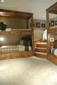 Plans For Loft Beds With Stairs by Best 25 Corner Bunk Beds Ideas On Pinterest Bunk Rooms Cabin