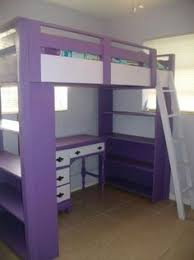 free plans learn how to build a full size loft bed bunk bed