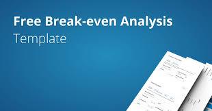 break even analysis template fundivo