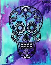 dia de los muertos home decor sugar skull art painting dia de los muertos mexican folk art dot