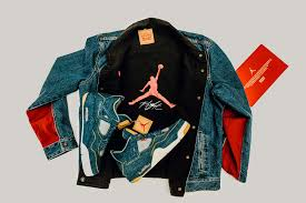 Nike Levis end levis x air reversible trucker jacket register now