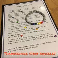 the first thanksgiving activities thanksgiving story bracelet montessorisoul montessori