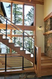 Modern Banister Lovely Metal Banister Staircase Rustic With Modern Railing Large
