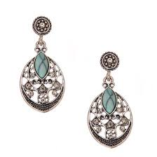 turquoise drop earrings turquoise and filigree medallion drop earrings
