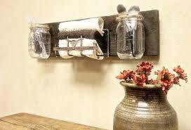 Mason Jar Bathroom Organizer Home Decorating Ideas On A Budget Trendy New Designers