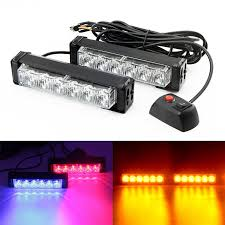 red and white led emergency lights 12v red blue yellow white car strobe flash light 12w auto warning