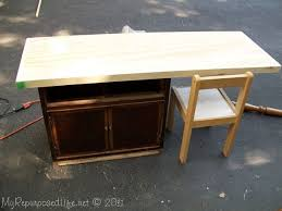 how to make a child s desk how to repurposed nightstand into child s desk crafts diy