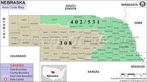 area code de usa nebraska area codes map of nebraska area codes
