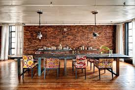 Dining Room Pendant Lights Eclectic Dining Room With Upholstered Dining Chair U0026 Painted Wood