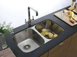 kitchen elegant stainless double handle arc faucet combined with