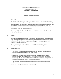 executive summary fire management plan template