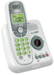 vtech cs6124 dect 6 0 cordless phone with answering system and