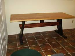 Solid Core Door Desk Cheap Easy Low Waste Trestle Table Plans 8 Steps