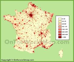 Toulouse France Map by France Population Density Map