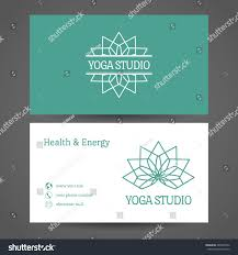 Business Cards Front And Back Yoga Ornamental Business Card Vector Editable Stock Vector