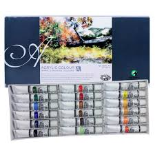 painting colour maries acrylic color painting set 18col x 12ml acrylic painting