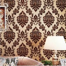 aliexpress com buy beibehang luxury 3d wallpaper for walls 3 d aliexpress com buy beibehang luxury 3d wallpaper for walls 3 d mural papel de parede 3d flocking velvet gold wall paper roll wall papers home decor from