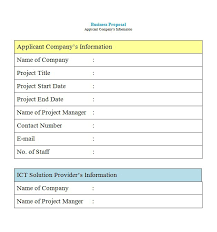 template for proposal letter business proposal template 5 free