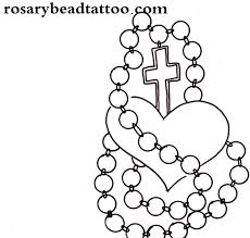 love rosary beads tattoo sketch
