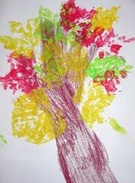 decorating ideas stunning colourful leaf printing on paper for