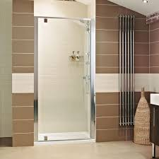 Shower Hinged Door Lumin8 Pivot Shower Door Enclosure Wall To Wall Frameless Shower
