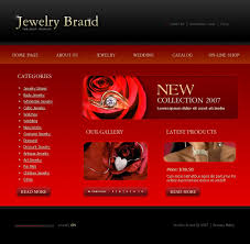 design home page online website template 16354 jewelry brand watch custom website
