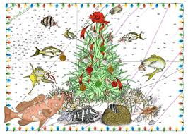 nautical christmas cards florida and fishing theme christmas cards
