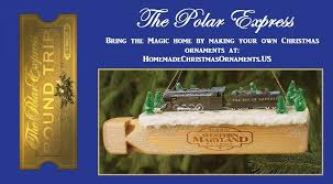 diy polar express ornament