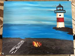 inspired by tutorial by painting with jane lighthousehobbiesacrylicslight