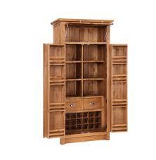 ingleton oak larder unit with wine rack code 112366
