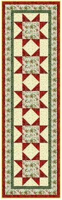 peppermint table runner free pattern from