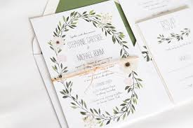 wedding invitations greenery greenery wedding invitation watercolor greenery wreath wedding