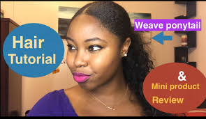 weave ponytail weave ponytail for hair tutorial mini product