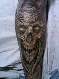tattoosbychrisamlie skull biomech