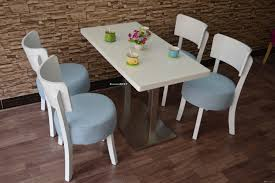 2017 wooden table and chair set for restaurant or bakery store