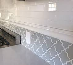 Mosaic Kitchen Backsplash by Interior Arabesque Tile Backsplash Blue Arabesque Tile