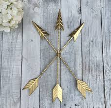 arrow wall hanging gold arrow gallery wall gold home